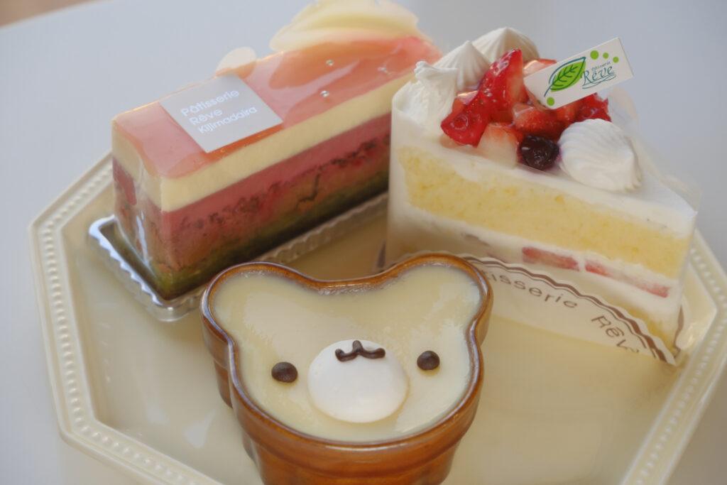 パティスリーレーヴの可愛いケーキ