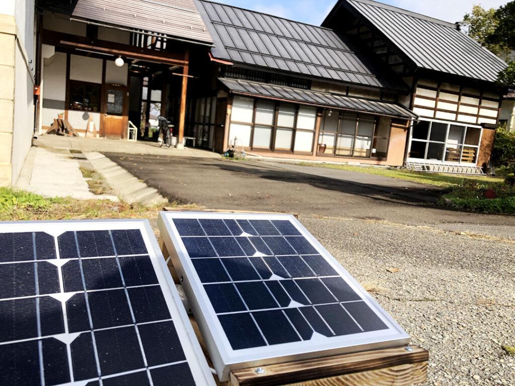 木島平村の中で広まっている小型太陽光発電