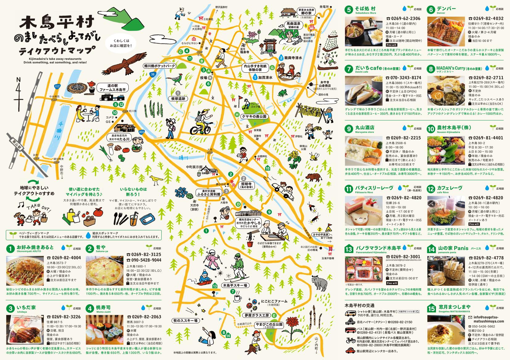 木島平村テイクアウトマップ(裏側)