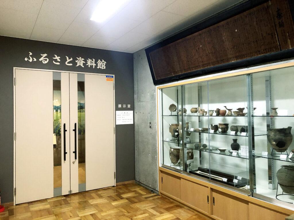 木島平村の農村交流館の中にあるふるさと資料館